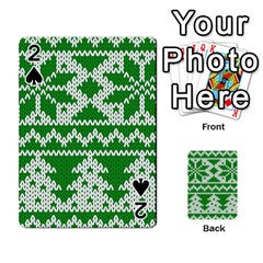Knitted Fabric Christmas Pattern Vector Playing Cards 54 Designs