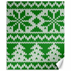Knitted Fabric Christmas Pattern Vector Canvas 8  X 10