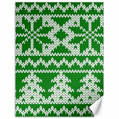 Knitted Fabric Christmas Pattern Vector Canvas 12  X 16