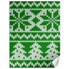 Knitted Fabric Christmas Pattern Vector Canvas 36  X 48