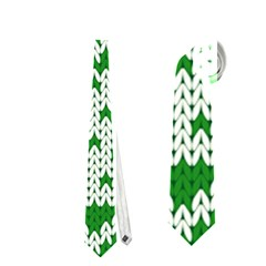 Knitted Fabric Christmas Pattern Vector Neckties (one Side)