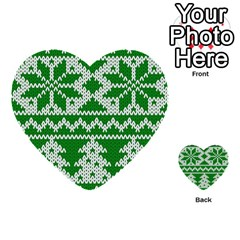 Knitted Fabric Christmas Pattern Vector Multi Purpose Cards (heart)