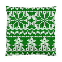 Knitted Fabric Christmas Pattern Vector Standard Cushion Case (two Sides)
