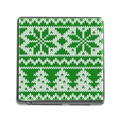 Knitted Fabric Christmas Pattern Vector Memory Card Reader (square)
