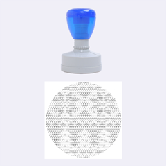 Knitted Fabric Christmas Pattern Vector Rubber Round Stamps (medium)