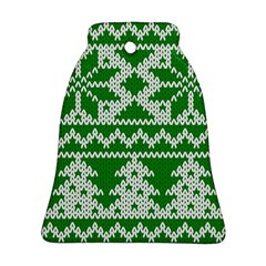 Knitted Fabric Christmas Pattern Vector Ornament (bell)