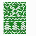 Knitted Fabric Christmas Pattern Vector Large Garden Flag (Two Sides) Back