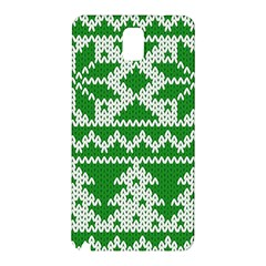 Knitted Fabric Christmas Pattern Vector Samsung Galaxy Note 3 N9005 Hardshell Back Case