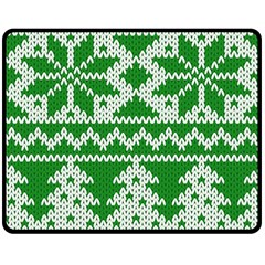Knitted Fabric Christmas Pattern Vector Double Sided Fleece Blanket (medium)
