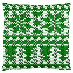 Knitted Fabric Christmas Pattern Vector Standard Flano Cushion Case (one Side)
