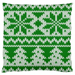 Knitted Fabric Christmas Pattern Vector Large Flano Cushion Case (two Sides)