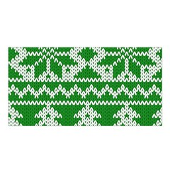 Knitted Fabric Christmas Pattern Vector Satin Shawl