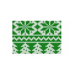 Knitted Fabric Christmas Pattern Vector Satin Wrap