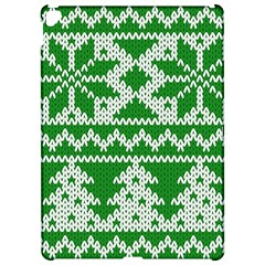Knitted Fabric Christmas Pattern Vector Apple iPad Pro 12.9   Hardshell Case