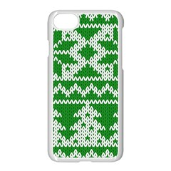 Knitted Fabric Christmas Pattern Vector Apple Iphone 7 Seamless Case (white)