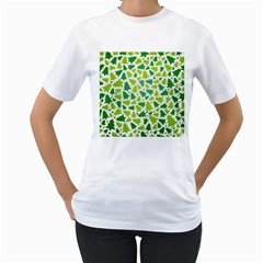 Pattern Christmas Elements Seamless Vector  Women s T Shirt (white) (two Sided)
