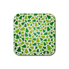 Pattern Christmas Elements Seamless Vector  Rubber Coaster (square)