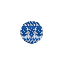 Knitted Fabric Christmas Pattern Vector 1  Mini Magnets