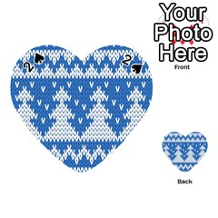 Knitted Fabric Christmas Pattern Vector Playing Cards 54 (heart)