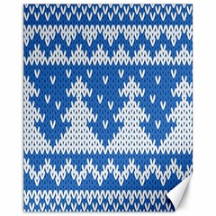Knitted Fabric Christmas Pattern Vector Canvas 11  X 14