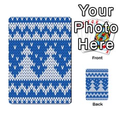 Knitted Fabric Christmas Pattern Vector Multi Purpose Cards (rectangle)