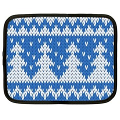 Knitted Fabric Christmas Pattern Vector Netbook Case (xl)