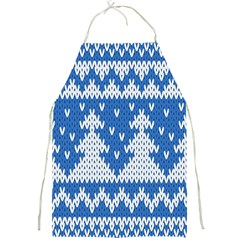 Knitted Fabric Christmas Pattern Vector Full Print Aprons