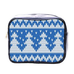 Knitted Fabric Christmas Pattern Vector Mini Toiletries Bags
