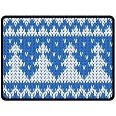 Knitted Fabric Christmas Pattern Vector Fleece Blanket (large)