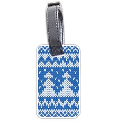 Knitted Fabric Christmas Pattern Vector Luggage Tags (two Sides)