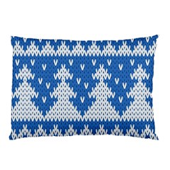 Knitted Fabric Christmas Pattern Vector Pillow Case (two Sides)