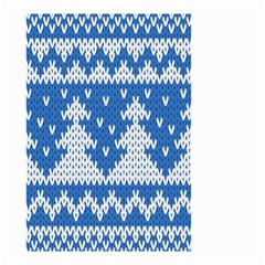 Knitted Fabric Christmas Pattern Vector Small Garden Flag (two Sides)