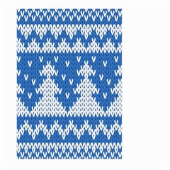 Knitted Fabric Christmas Pattern Vector Large Garden Flag (two Sides)