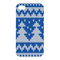 Knitted Fabric Christmas Pattern Vector Apple Iphone 4/4s Premium Hardshell Case