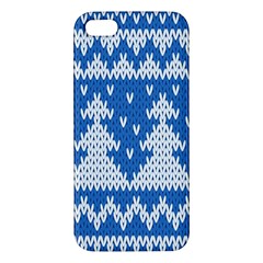 Knitted Fabric Christmas Pattern Vector Apple Iphone 5 Premium Hardshell Case