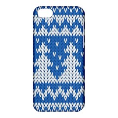 Knitted Fabric Christmas Pattern Vector Apple Iphone 5c Hardshell Case