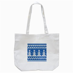 Knitted Fabric Christmas Pattern Vector Tote Bag (white)