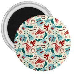 Pattern Christmas Elements Seamless Vector       3  Magnets