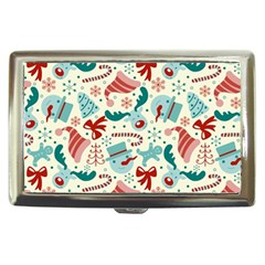 Pattern Christmas Elements Seamless Vector       Cigarette Money Cases