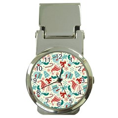 Pattern Christmas Elements Seamless Vector       Money Clip Watches