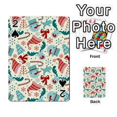 Pattern Christmas Elements Seamless Vector       Playing Cards 54 Designs