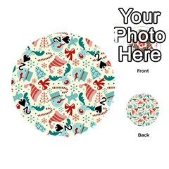 Pattern Christmas Elements Seamless Vector       Playing Cards 54 (Round)