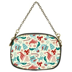 Pattern Christmas Elements Seamless Vector       Chain Purses (two Sides)