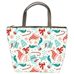 Pattern Christmas Elements Seamless Vector       Bucket Bags