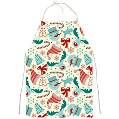 Pattern Christmas Elements Seamless Vector       Full Print Aprons