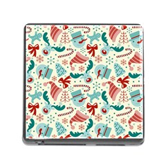 Pattern Christmas Elements Seamless Vector       Memory Card Reader (square)