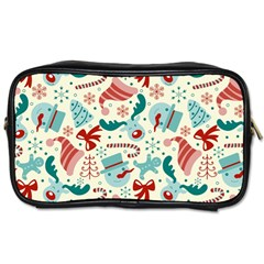 Pattern Christmas Elements Seamless Vector       Toiletries Bags