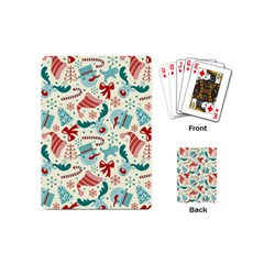 Pattern Christmas Elements Seamless Vector       Playing Cards (mini)