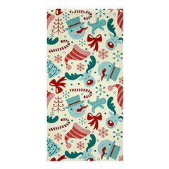 Pattern Christmas Elements Seamless Vector       Shower Curtain 36  X 72  (stall)