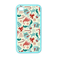Pattern Christmas Elements Seamless Vector       Apple Iphone 4 Case (color)